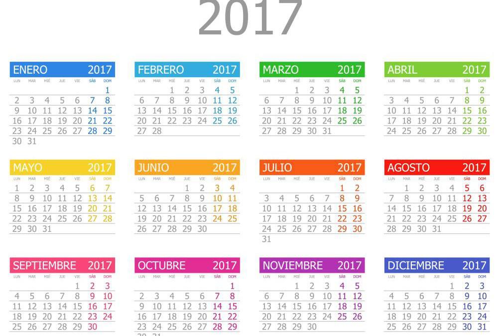 Calendario concursos 2017