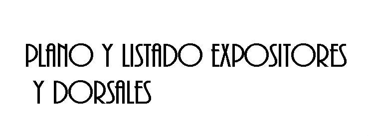 PLANO Y LISTADO EXPOSITORES