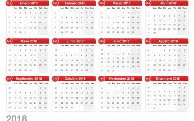 Calendario concursos 2018