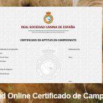 Solicitud on line certificados de campeonato