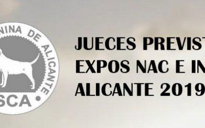 Reparto provisional jueces-razas expos nacional e internacional 2019