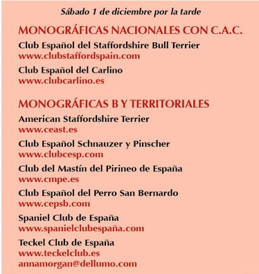 Monográficas que tendrán lugar junto con nuestras exposiciones.