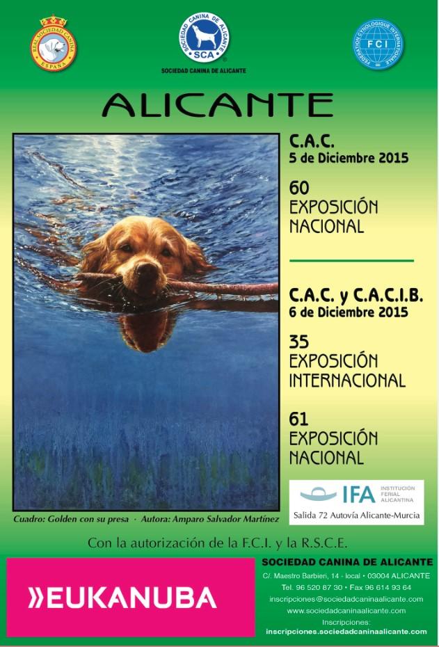 JUECES EXPOSICIONES NACIONALES E INTERNACIONAL 5 Y 6 DICIEMBRE 2015, Y MONOGRÁFICAS.